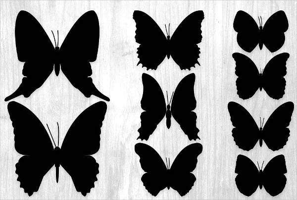 printable butterfly silhouette1
