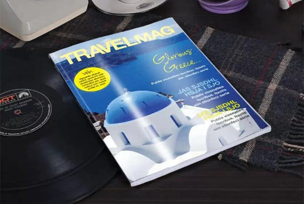 Travel Magazine Template Cover