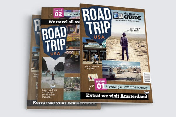 Road Trip Travel Magazine Template