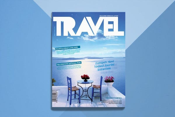 Gorgeous Travel Magazine Template