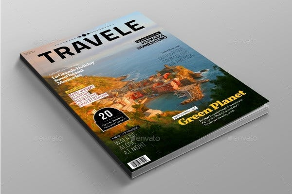 Editorial Traveling Magazine Template