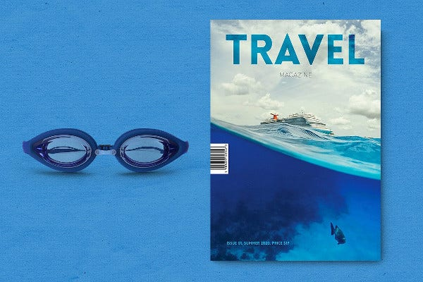 Beautiful Travel Magazine Template