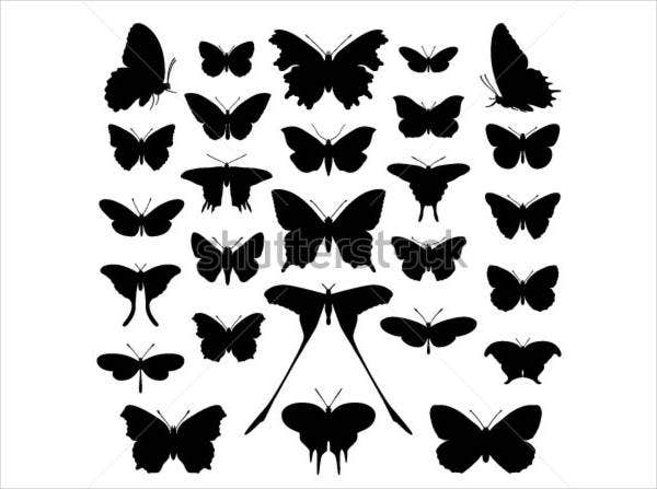 Small Butterfly Silhouette