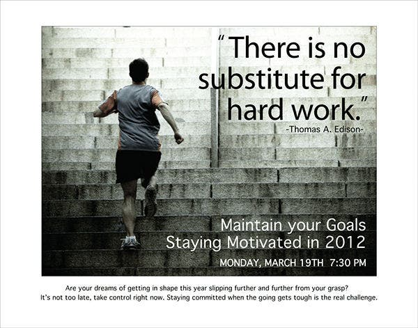 free motivational fitness poster