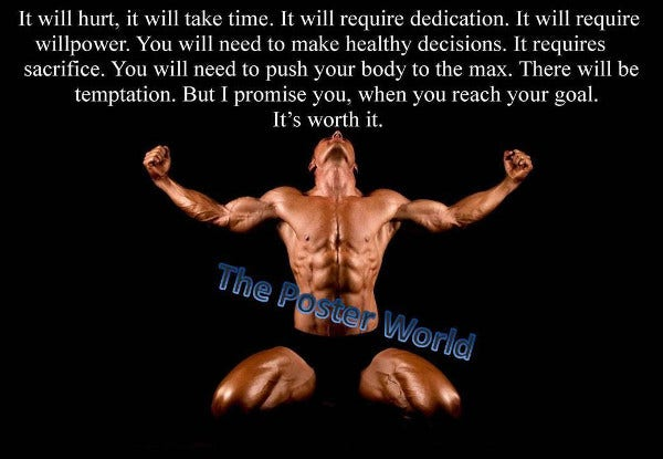 body building motivational fitness poster
