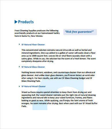 Product Sales Proposal Sample  Product Proposal Template