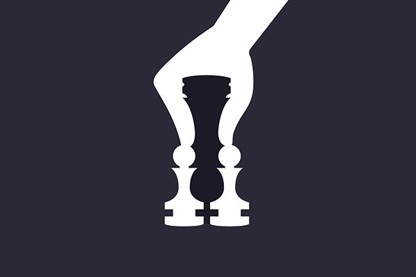 Negative Chess Art Illustration