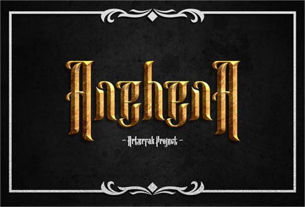 Anehena Typeface Font