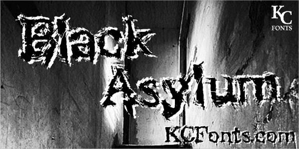 black asylum font