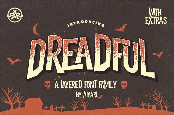 Dreadful Typeface Font