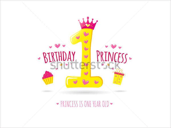 princess first birthday invitation1