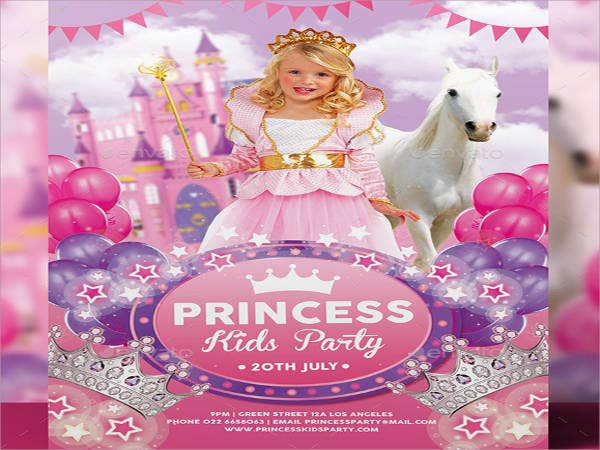 pink princess birthday invitation1