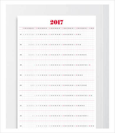yearly project calendar template