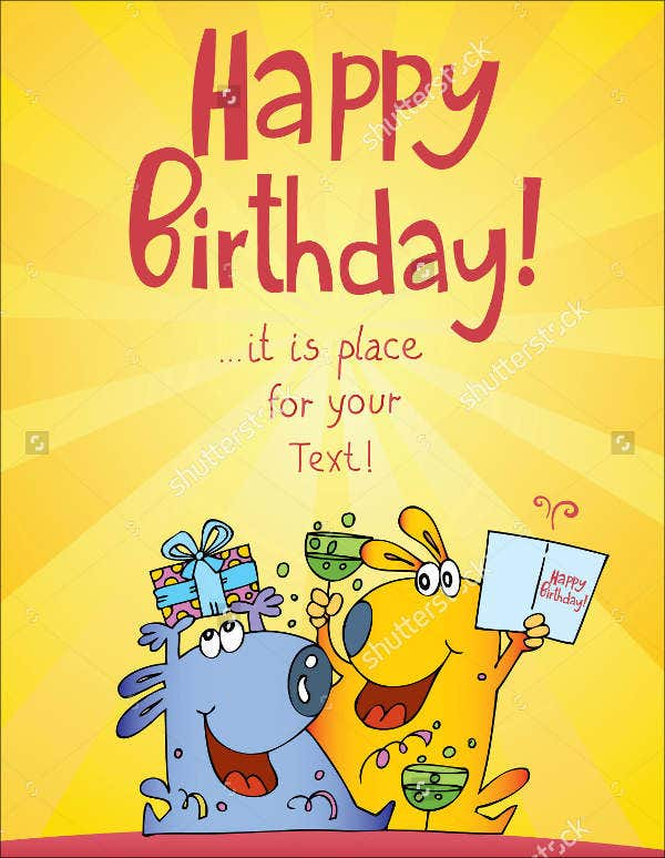 9 Funny Birthday Card Templatesfree Psd Vector Ai Eps Format