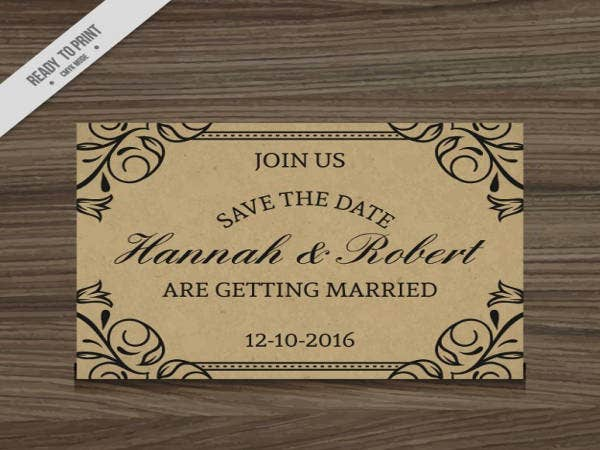 free rustic wedding invitation sample1