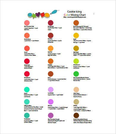 Food Coloring Chart   Free Pdf Documents Download  Free