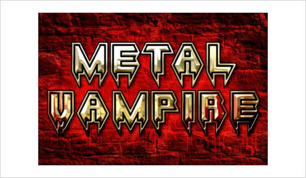 Metal 3D Font