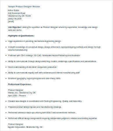 product designer resume resumebakingcom product design resume