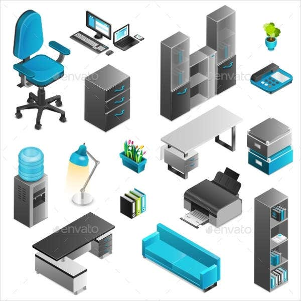 office-interior-icons