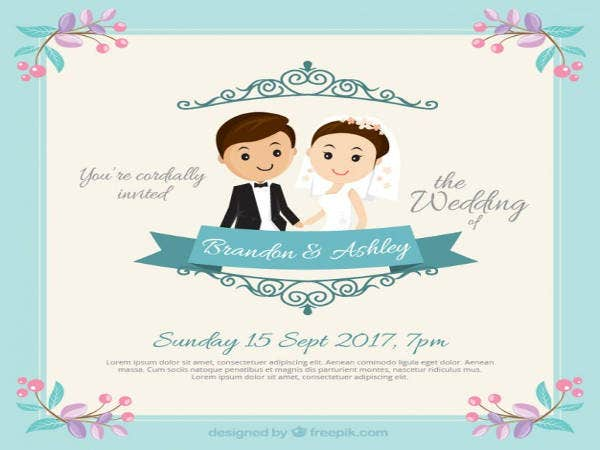 free couple wedding invitation samples1
