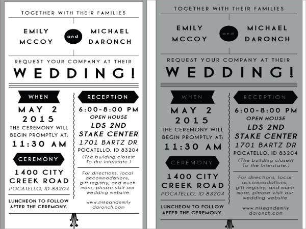 free wedding reception invitation samples1