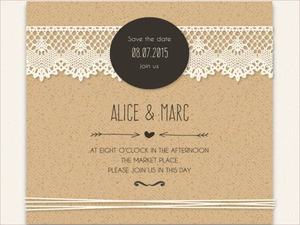 free lace wedding invitation samples1