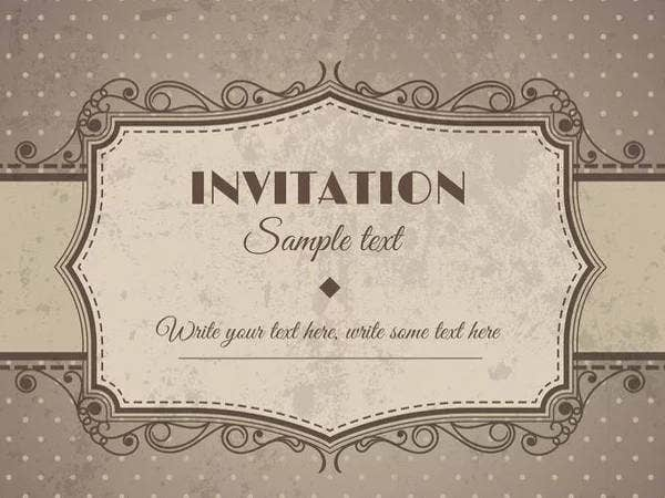 free blank wedding invitation samples1