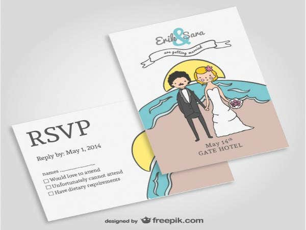 free beach wedding invitation samples2