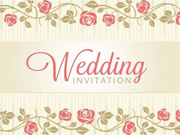 free floral wedding invitation samples1