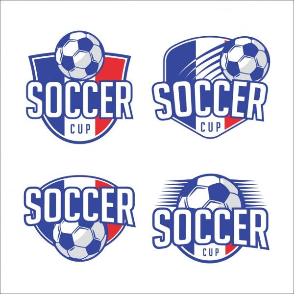 Soccer logo template designs