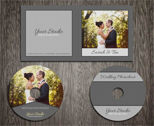 Wedding CD Cover Template