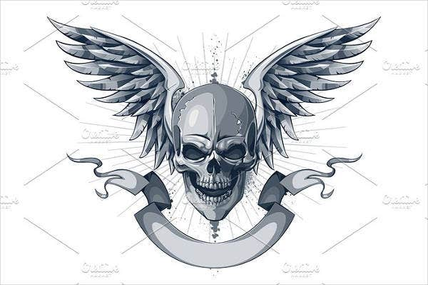 skull-and-wings-vector