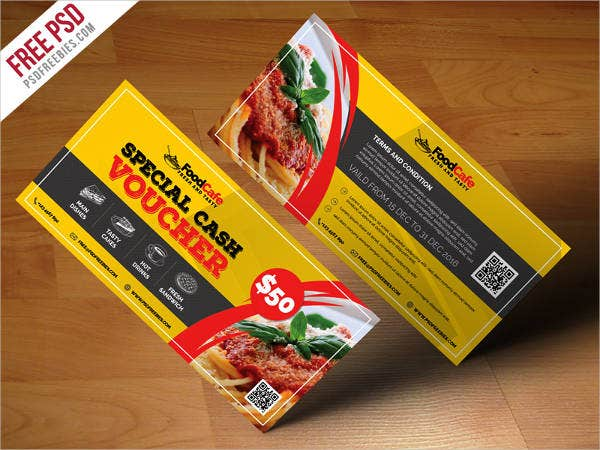 Food Cash Voucher Template