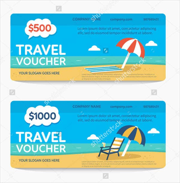 travel voucher template