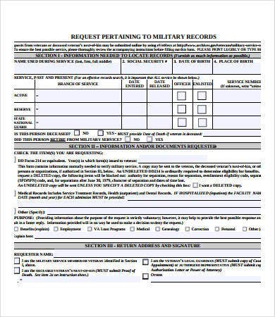 Military Medical Records Release Form  Medical Record Release Form Template
