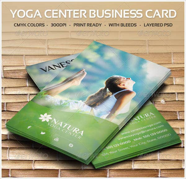 yoga-center-business-card