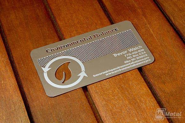 Steel Environmental Leaf Business Card
