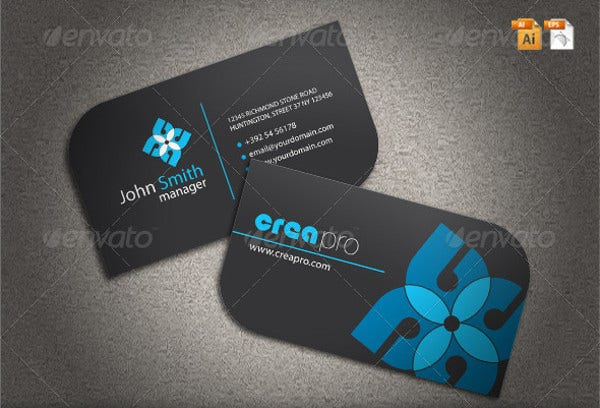 Leaf shaped Pro Business Card