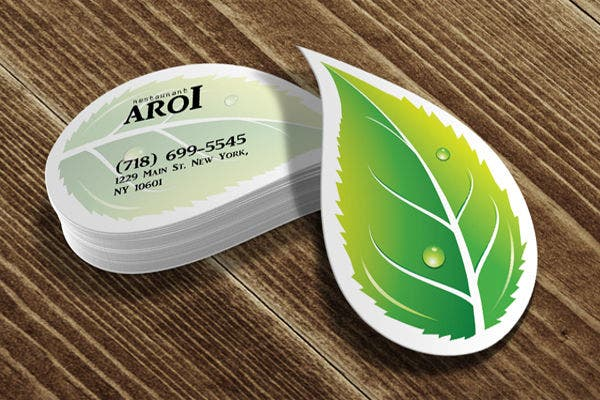 Leaf Business Card Free
