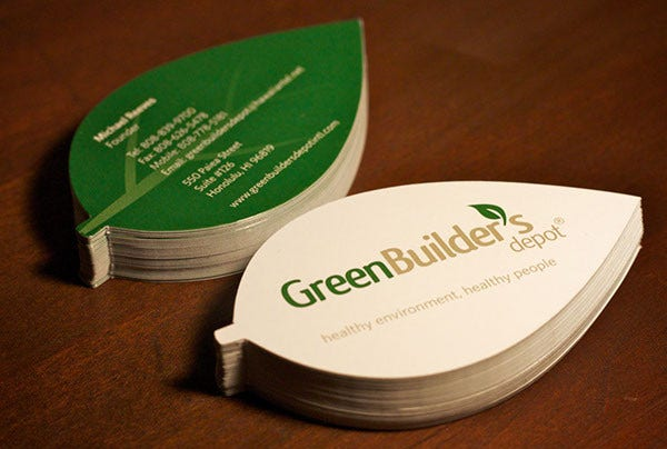 Free Download Leaf Business Card