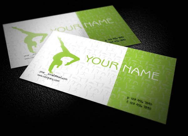 12  yoga business card templates