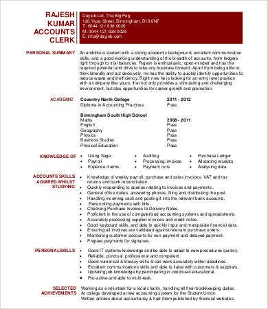 what is an accounting clerk
