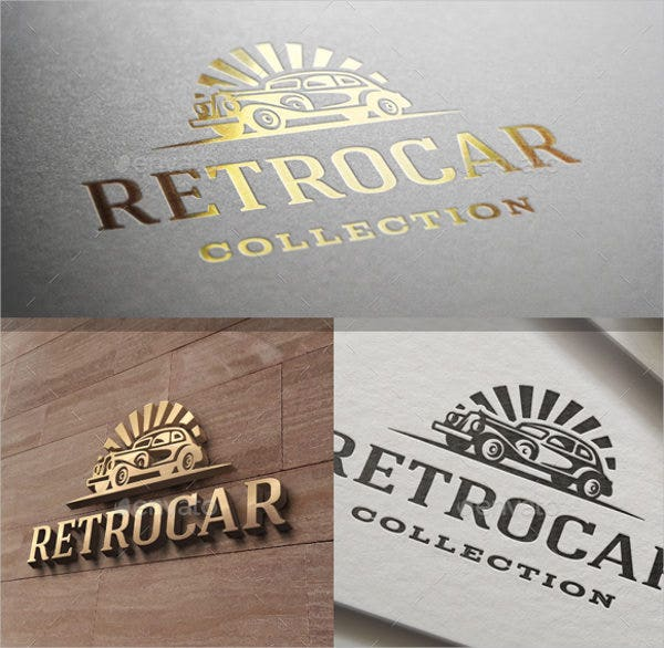 Retro car Logo