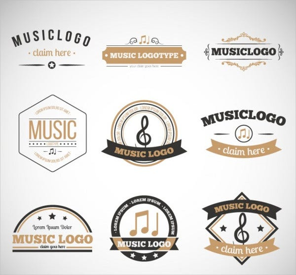 retro music logo