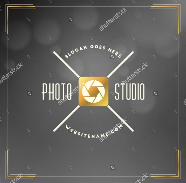 retro photography logo