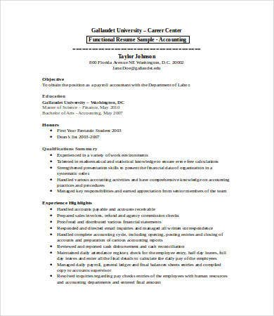 15 Sample Accounting Resume Templates