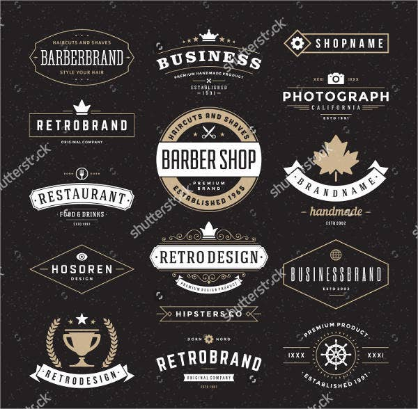9 retro logos free psd vector ai eps format download free premium templates. Black Bedroom Furniture Sets. Home Design Ideas