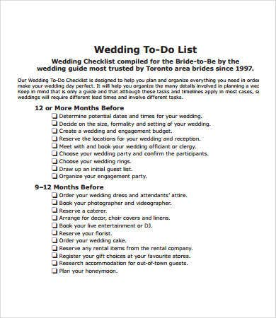 To Do Checklist Templates   Free Pdf Documents Download  Free