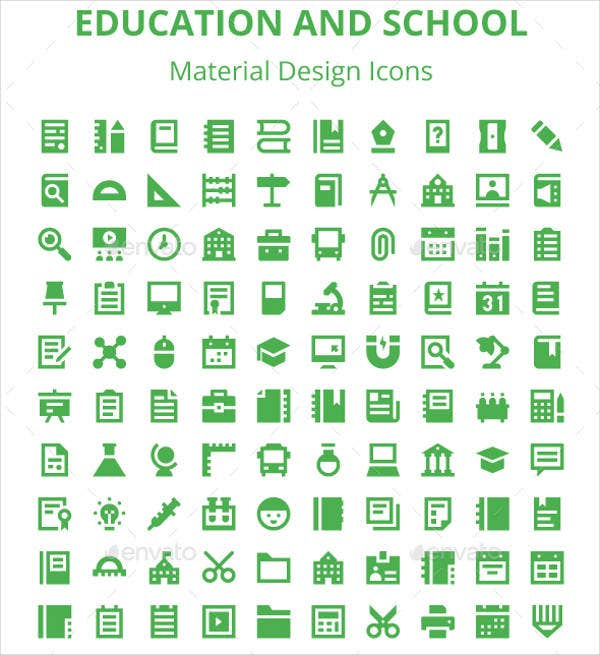 education-material-design-icons