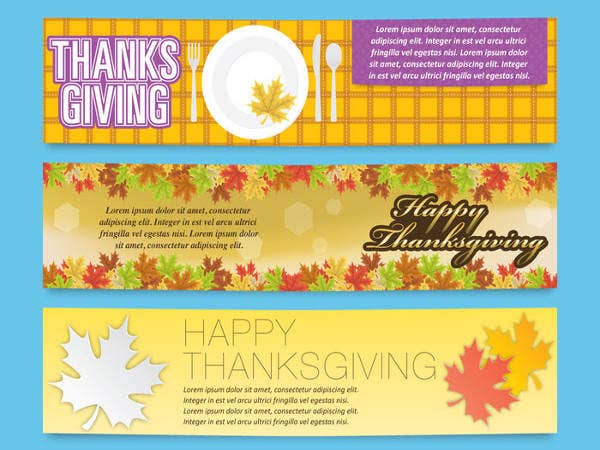 free thanksgiving banner templates1